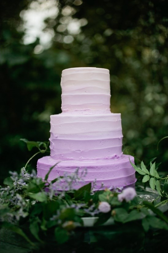 "<p> OMBRÉ<p> <p> Why pick one colour when you can pick two, with all the sweetest shades in between?<p> <p> <a href=""http://www.weddingchicks.com/2014/01/01/lavender-wedding-2/"">Wedding Chicks</a>."