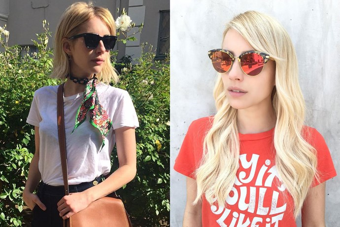 <p> <strong>Emma Roberts</strong></p> <p>Emma Roberts has debuted much longer, platinum blonde tresses on her Instagram today. We're just going to go ahead and assume on again, off again boyfriend Evan Peters snapped the pic.</p>
