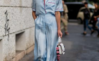 Sweet Dreams: 15 Street Style Stars Taking The Pyjama Trend To Bed