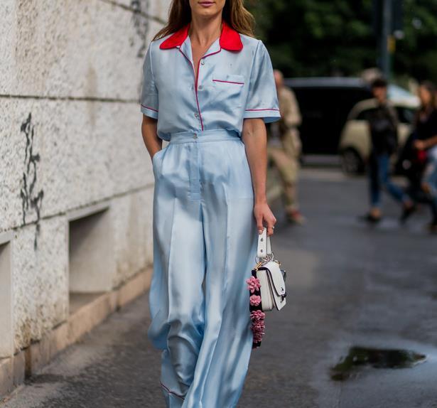 Pyjama style.