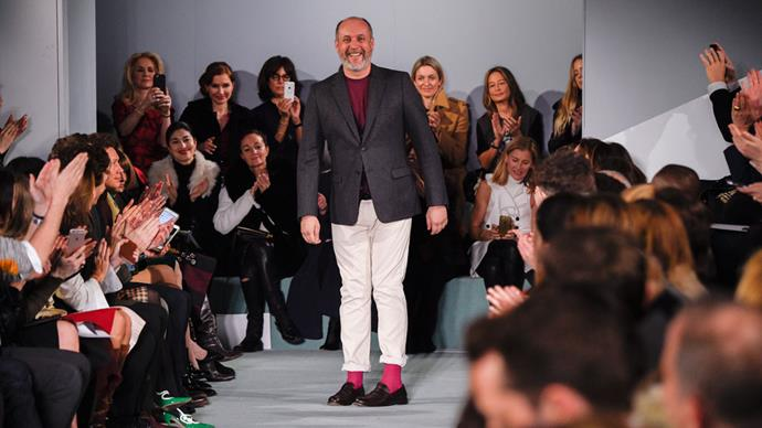 Peter Copping on the Oscar de la Renta runway