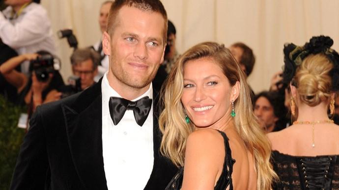 Gisele Bundchen and Tom Brady.