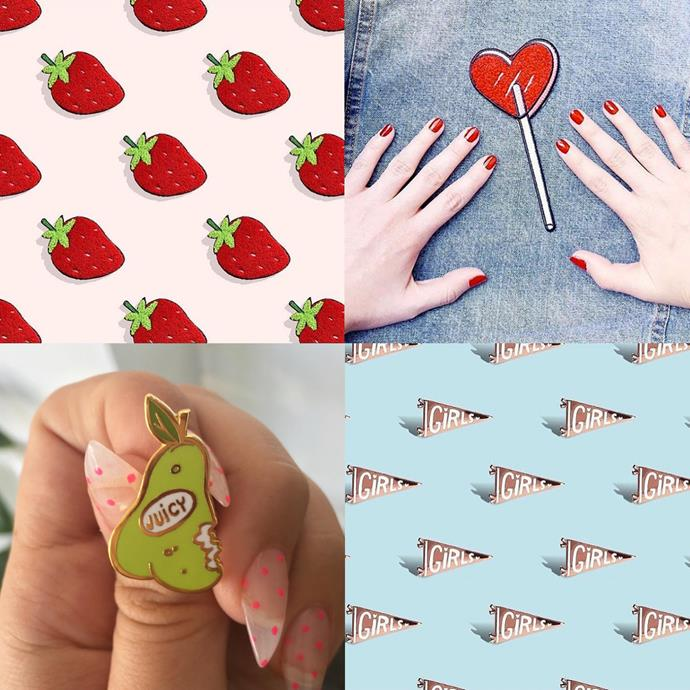 """<P> <a href=""""https://www.instagram.com/tuesdaybassen/"""">TUESDAY BASSEN</a><P> <P> LA illustrator Tuesday Bassen's sweet patches and pins have fans all over the world, including in <a href=""""http://www.elle.com.au/news/fashion-news/2016/7/zara-accused-of-copying-artists-work/"""">Zara</a>."""