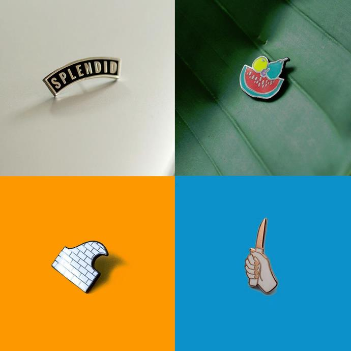 """<P> <a href=""""https://www.instagram.com/prizepins/"""">PRIZE PINS</a><P> <P> US-based Prize Pins are known for their sleek designs,  alternative imagery and rad feel."""