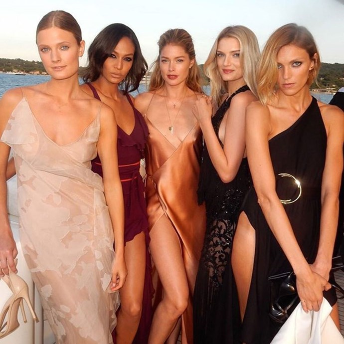models at the 2016 leonardo dicaprio foundation gala