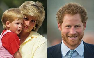 Prince Harry and his mother, Diana, Princess of Wales