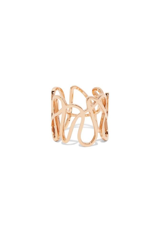 "<a href=""https://www.net-a-porter.com/au/en/product/792892/Repossi/white-noise-18-karat-rose-gold-ring"">18K Rose-Gold 'White Noise' Ring, $4,136, Repossi at net-a-porter.com</a>"