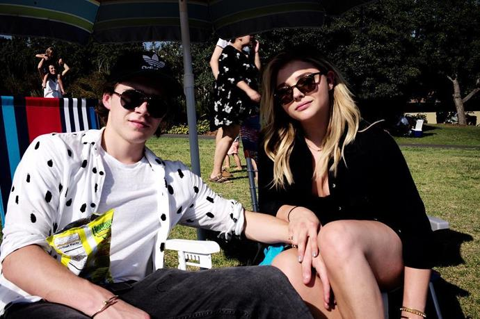Chloe Grace Moretz and Brooklyn Beckham.