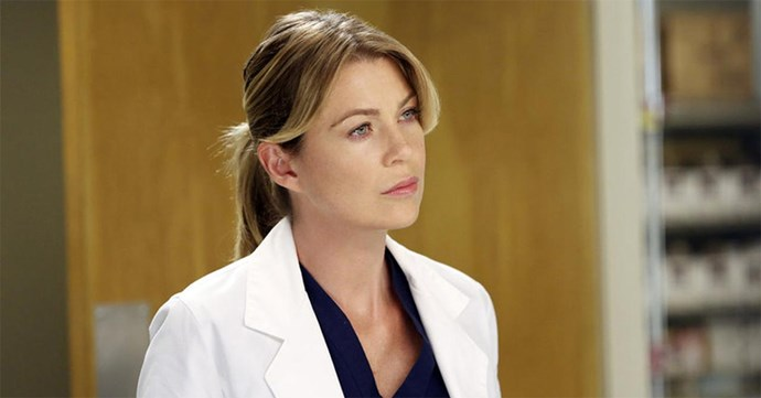 Meredith Grey on Grey's Anatomy.