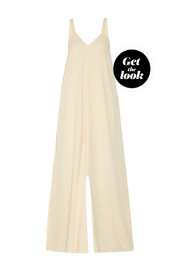 "Jumpsuit, $962, Helmut Lang at <a href=""https://www.net-a-porter.com/au/en/product/723192/Helmut_Lang/crepe-jumpsuit"">net-a-porter.com</a>."