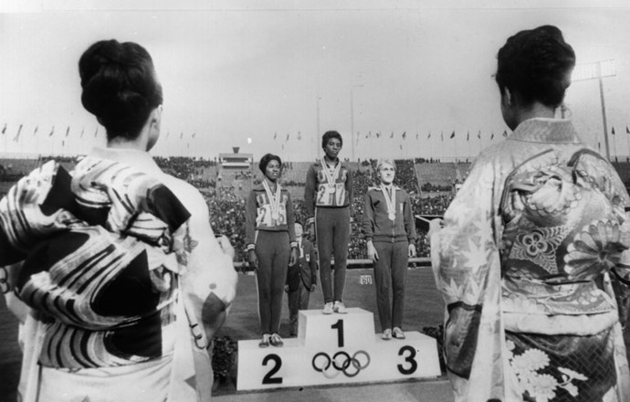 <P> <strong>1964, TOKYO: GENDER TESTING ISN'T RELIABLE</strong><P> <P> Ewa Kłobukowska, a Polish sprinter, competed in the 4×100 meter relay and the 100-meter sprint and took home a gold and a bronze medal, respectively. (That's her on the right, above the 3, winning her bronze.) In 1967, she failed a gender test and was stripped of her 1964 medals. Yet, once again, the story doesn't end there. After Klobukowska gave birth to her son years later, people realized that she must have had a genetic abnormality that made her have one chromosome too many. Gender testing: awful, inhumane, and flawed. No one wins.