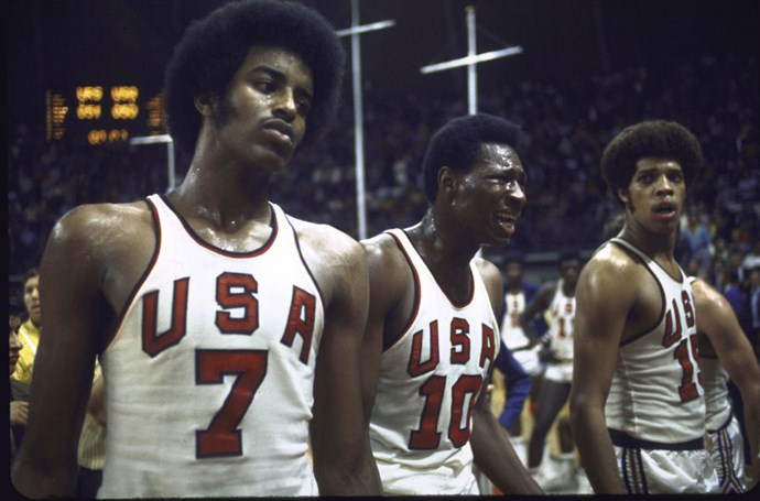 "<P> <strong>1972, MUNICH: REALLY BAD REFS</strong><p> <p> Yes, 1972 brought the first ever loss for Team USA basketball since the sport began Olympic play in 1936....but that wasn't why it was such a big deal. It was the <em>how</em> of the loss: With just three seconds left on the clock, the Russians were down, and the officials got sloppy, giving them another chance to inbound the ball after unsuccessfully attempting it once. (That is not the way the game is usually played.) ""Forty years later, it is still being replayed,"" writes <a href=""http://www.nytimes.com/2012/07/29/sports/olympics/three-seconds-of-the-munich-olympics-that-never-seem-to-run-out.html?_r=0"">the New York Times</a><em><a href=""http://www.nytimes.com/2012/07/29/sports/olympics/three-seconds-of-the-munich-olympics-that-never-seem-to-run-out.html?_r=0"">New York Times</a></em> of that watershed game, and it's still disputed if they should've been allowed to inbound and hit the buzzer beater that won them the gold in a victory of 51-50 over the disgruntled Americans."