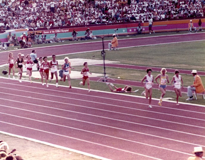 <P> <strong>1984, LOS ANGELES: WHOSE FAULT IS IT, ANYWAY?</strong><p> <p> During the women's 3000-meter race, American Mary Decker collided with South African Zola Budd, causing Decker to fall completely and lose the race. Decker blamed Budd, and Budd blamed Decker, and no one ever fully took the blame.
