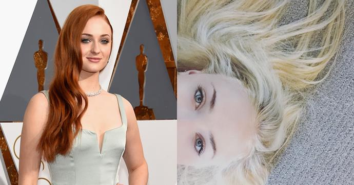 <p> <strong>Sophie Turner</strong></p> <p>Game of Thrones' Sophie Turner has done a Daenerys! The Brit actor lost her signature red locks a new bleached blonde look.</p>