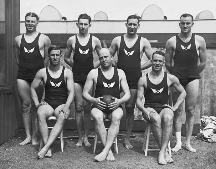 <p> <strong>1920</strong><p> <p> The San Francisco Olympic water polo team in 1920.