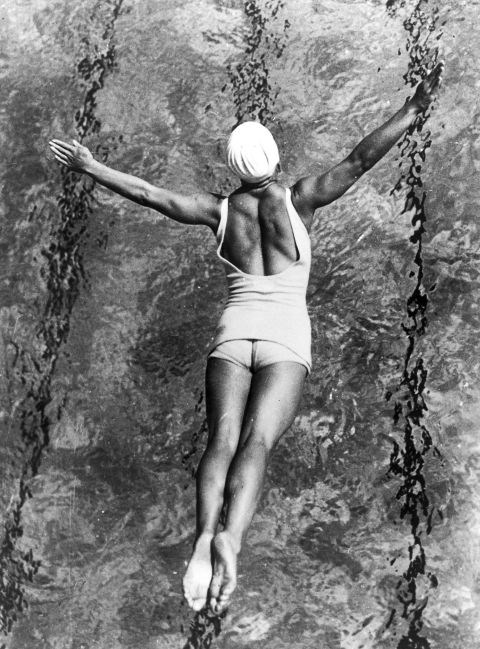 <p> 1932<p> <p> A swimmer at the L.A. Olympics.