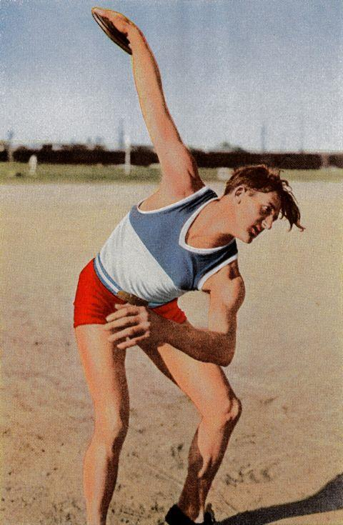 <p> <strong>1932</strong><p> <p> Jules Noel, a French athlete who competed in the discus and shot put, at the games in Los Angeles.