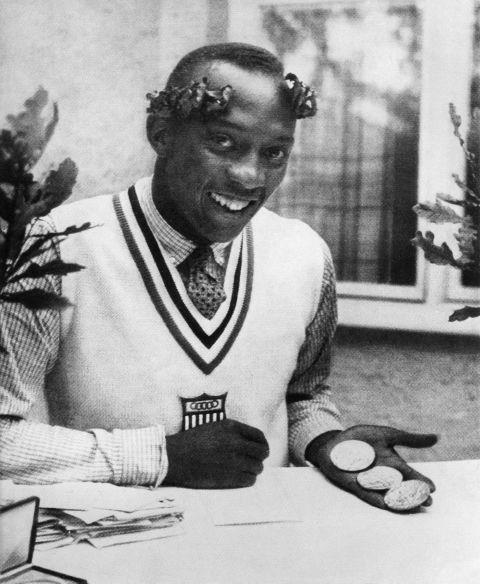 <p> <strong>1936</strong><p> <p> Jesse Owens, an American track and field athlete who walked away from the Summer Olympics in Berlin with four gold medals.