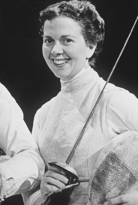 <p> <strong>1956</strong><p> <p> Great Britain's gold medal-winning fencer Gillian Sheen in Melbourne.