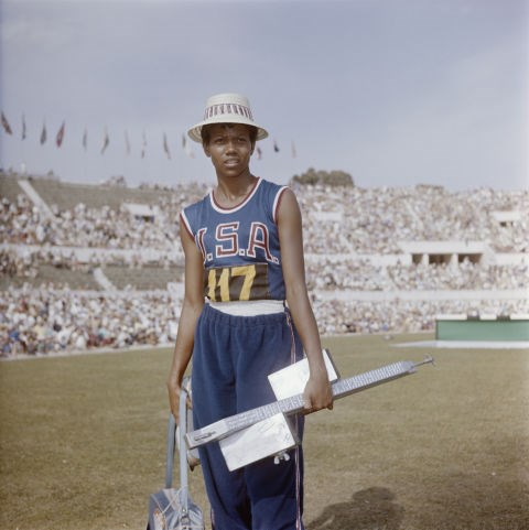 <p> <strong>1960</strong><p> <p> Wilma Rudolph, an American track and field racer who was considered the fastest woman alive in her time, wearing a straw hat and her team uniform at the Summer Olympics in Rome.