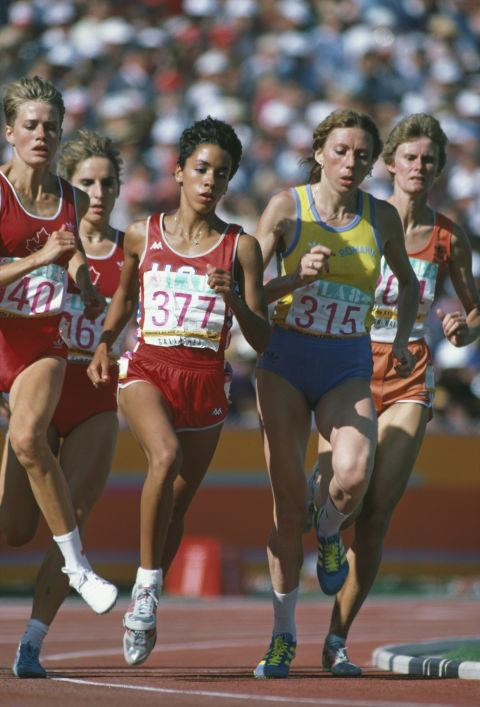 <p> <strong>1984</strong><p> <p> The women's 800-meter race at the Los Angeles Memorial Coliseum. The '84 Olympics are the first to be entirely funded through private sponsorship, ushering in an age of athletic sponsorships with big sports companies such as Nike, Puma, Adidas, etc.
