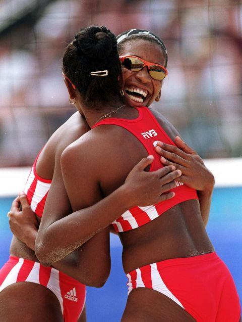 <p> <strong>2000</strong><p> <p> The Cuban team in the women's beach volleyball final of the games in Sydney, Australia.