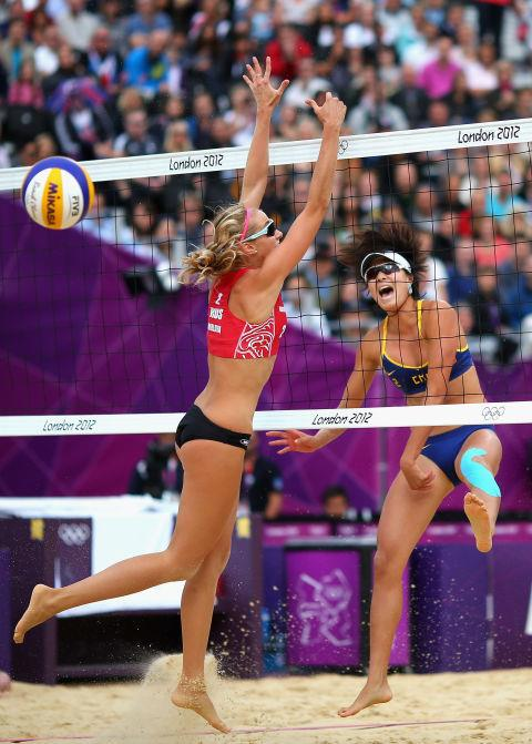 <p> <strong>2012</strong><P> <p> China goes head to head against Russia in the women's volleyball tournament in London.