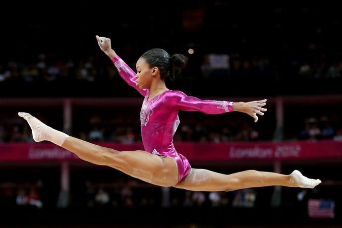 <p> <strong>2012</strong><p> <p> U.S. gymnast Gabby Douglas competing on the balance beam in London.