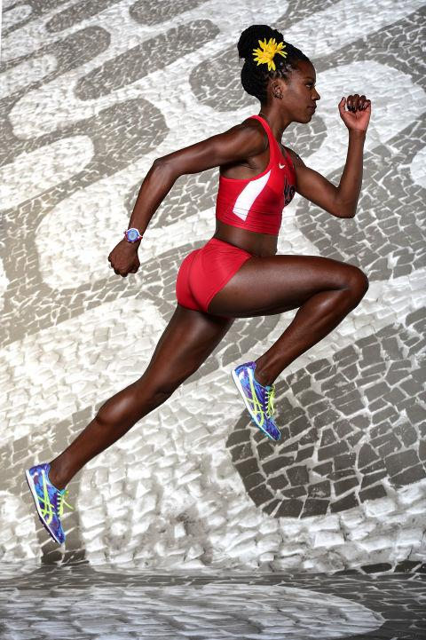 <p> <strong>2016</strong><p> <P> A portrait of track and field athlete Alysia Montano ahead of the Olympics in Rio.