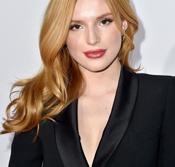 Bella Thorne in Black Jacket on Red Carpet