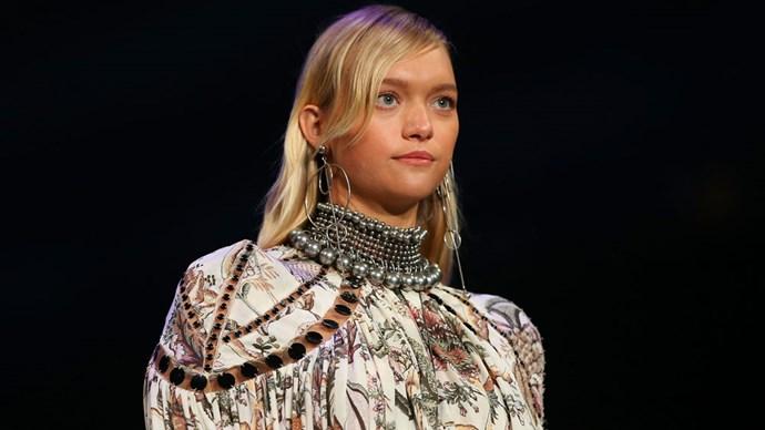gemma ward pregnant david jones ss1617 fashion launch