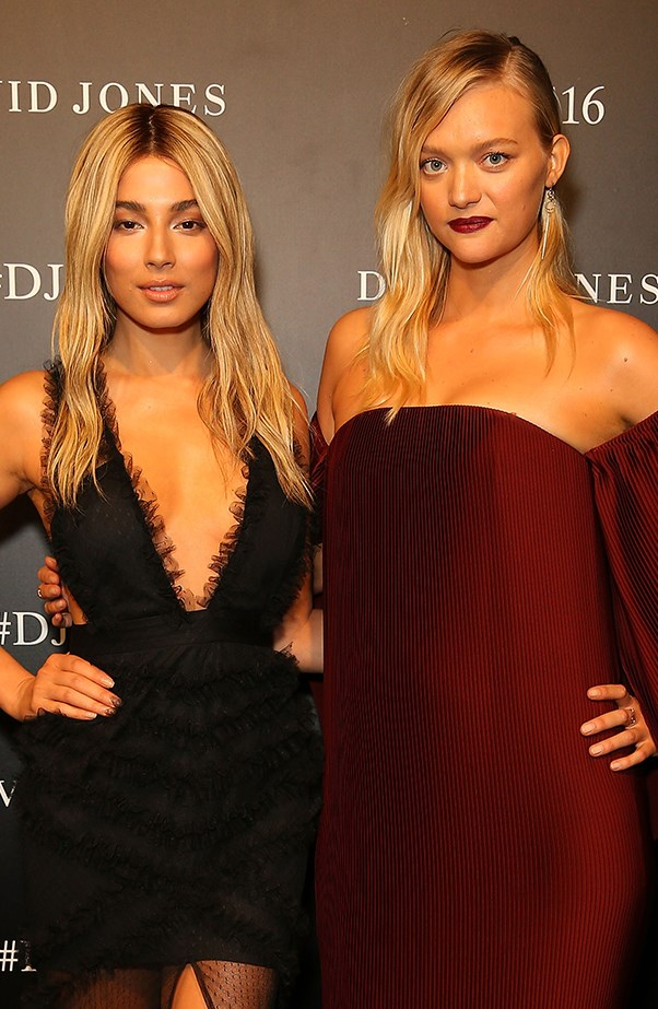 Jessica Gomes and Gemma Ward at David Jones Launch