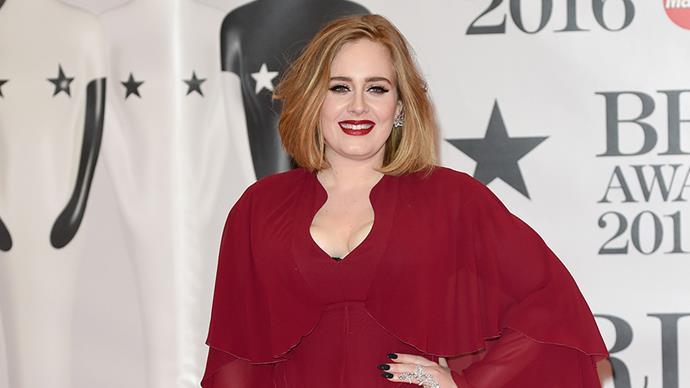 Adele at 2016 Brit Awards