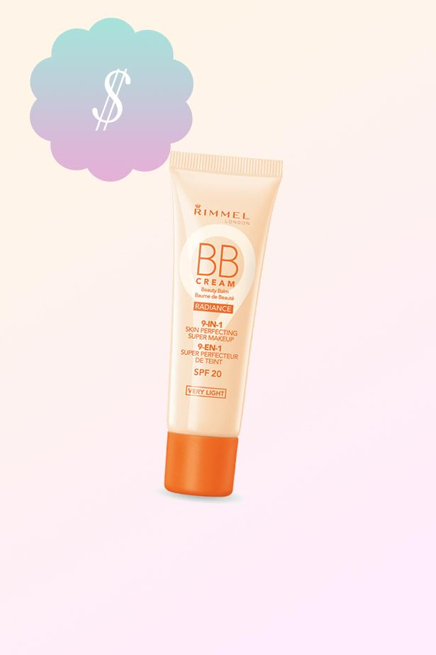 "Radiance BB Cream, $13.95, <a href=""https://www.priceline.com.au/rimmel-radiance-bb-cream-30-ml"">Rimmel at priceline.com.au</a>"