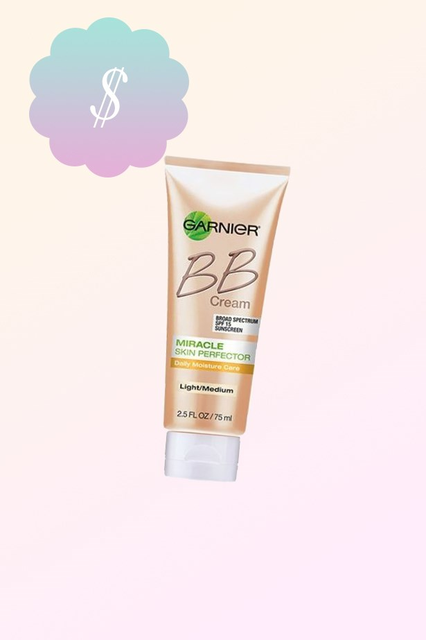 "Miracle Skin Perfector BB Cream, $15.99, <a href=""https://www.priceline.com.au/brand/garnier/garnier-miracle-skin-perfector-bb-cream-light-50-ml"">Garnier at priceline.com.au</a>."