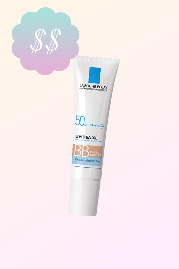 "Uvidea XL Melt-In BB Cream, $33.99, <a href=""https://www.priceline.com.au/brand/la-roche-posay/la-roche-posay-uvidea-xl-melt-in-bb-cream-spf-50-30-ml"">La Roche-Posay at priceline.com.au</a>."