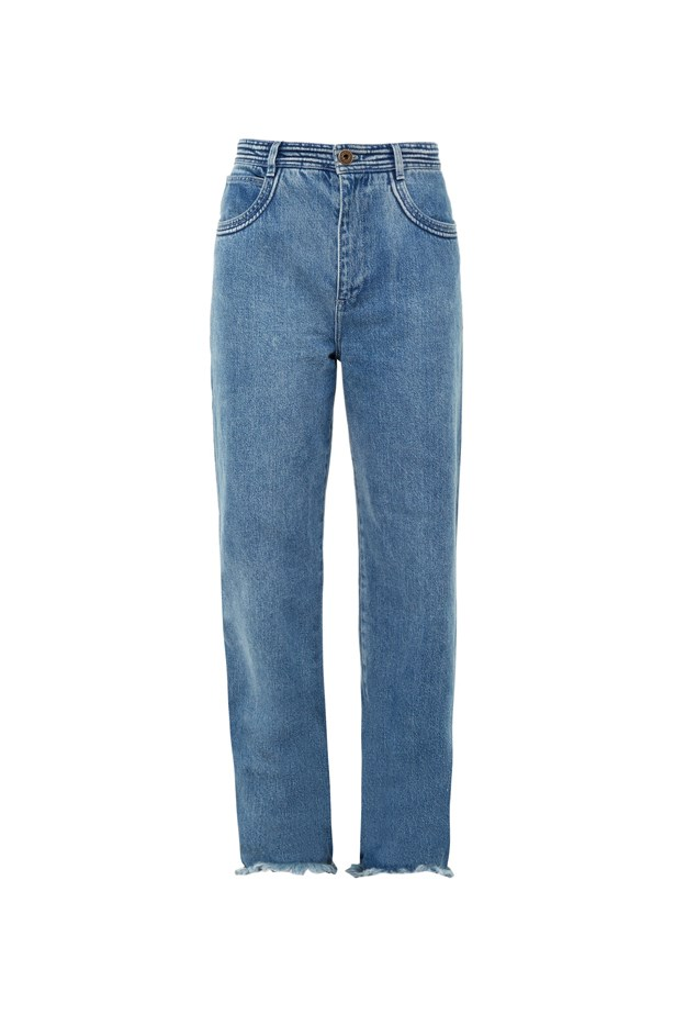 "Jeans, $545, <a href=""http://www.matchesfashion.com/au/products/Chlo%C3%A9-Frayed-hem-wide-leg-jeans-1052980"">Chloé at matchesfashion.com</a>."