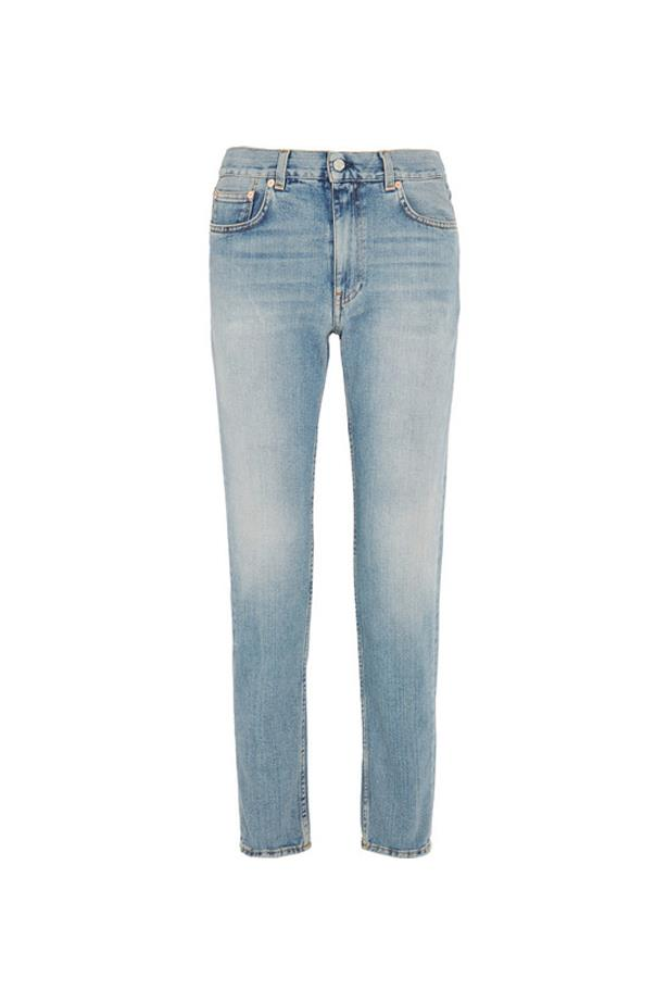 "Jeans, $390, <a href=""https://www.net-a-porter.com/au/en/product/730774/acne_studios/boy-mid-rise-slim-boyfriend-jeans"">Acne Studios at net-a-porter.com</a>."