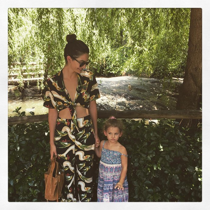 Lily Aldridge and daughter Dixie Pearl Followil.