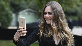 Cara Delevingne Selfie With iPhone