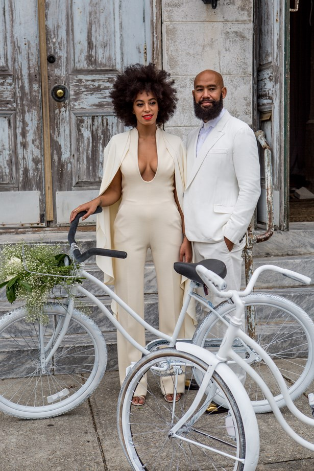 Solange Knowles at her 2014 wedding to Alan Ferguson.