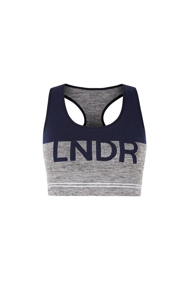 "Sports bra, $90, <a href=""https://www.modesportif.com/shop/product/lndr-cadet-bra-in-grey-marle/"">LNDR at modesportif.com</a>."