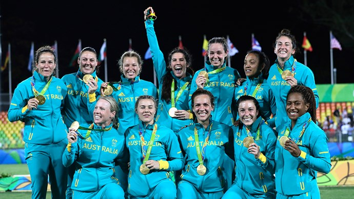 Australian Women's Rugby Sevens Team Win Gold At 2016 Olympics
