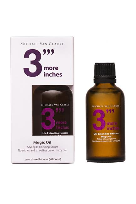 """Magic Oil, $52, <a href=""""http://mecca.com.au/3more-inches/magic-oil/I-020179.html"""" target=""""_blank"""">3 More Inches at mecca.com.au</a>."""