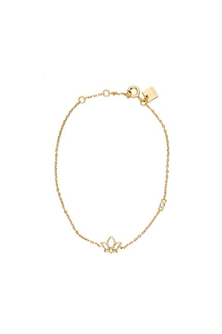 "Gold Enlighten Bracelet, $129, <a href=""http://bycharlotte.com.au/products/gold-enlighten-bracelet"" target=""_blank"">By Charlotte</a>."