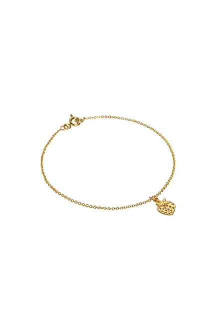 """Fraise Bracelet, approx. $76, <a href=""""https://www.wolfandbadger.com/uk/fraise-bracelet-gold/"""" target=""""_blank"""">Enelle at wolfandbadger.com</a>."""
