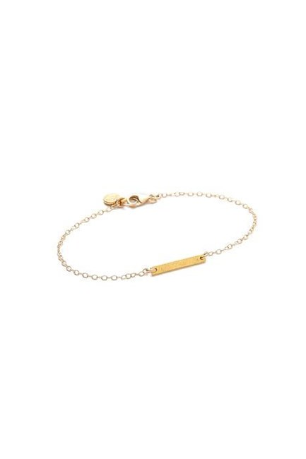 "Knox Bracelet, approx. $55, <a href=""https://www.shopbop.com/knox-bracelet-gorjana/vp/v=1/845524441867750.htm?folderID=2534374302033527&fm=other-shopbysize-viewall&os=false&colorId=11739"" target=""_blank"">Gorjana at shopbop.com</a>."