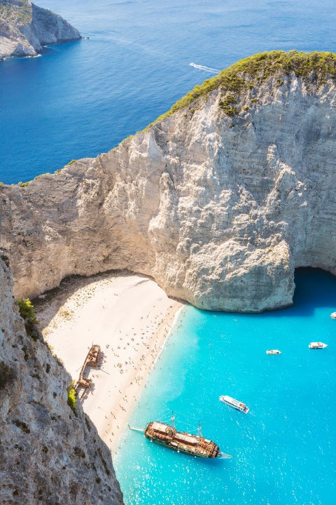 <strong>Navagio Beach, Greece </strong><BR> A Great Alternative To . . . Bali<br> Located in a remote cove on Zakynthos in Greece's Ionian Islands, Navagio Beach gets its nickname—Shipwreck Beach—because of the ship that ran aground here in the 1980's.