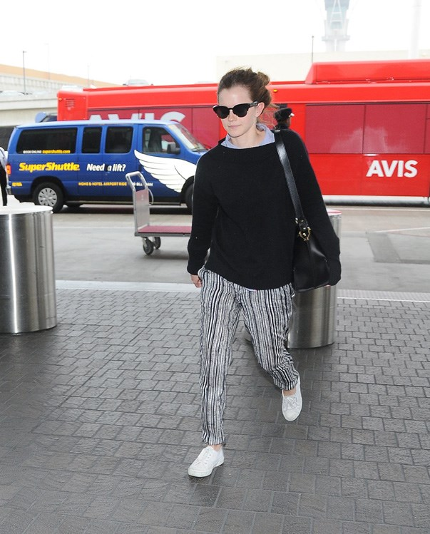 Emma Watson knows the power of loose-fitting pants.