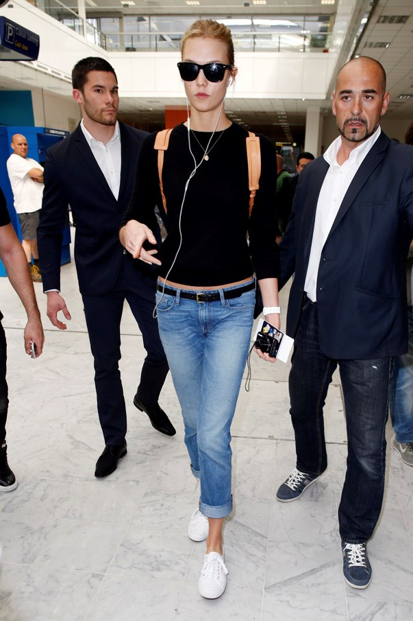 Karlie Kloss travels with practicality in mind. See: her love of backpacks.